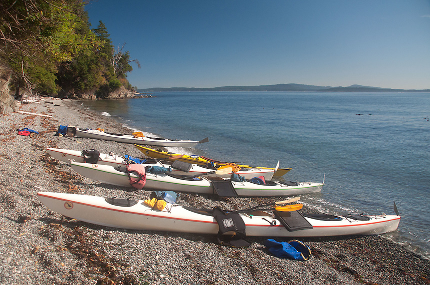 Kayaks, Stuart Island, Washington, US