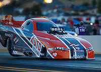 Jul 29, 2016; Sonoma, CA, USA; NHRA funny car driver Brandon Welch during qualifying for the Sonoma Nationals at Sonoma Raceway. Mandatory Credit: Mark J. Rebilas-USA TODAY Sports