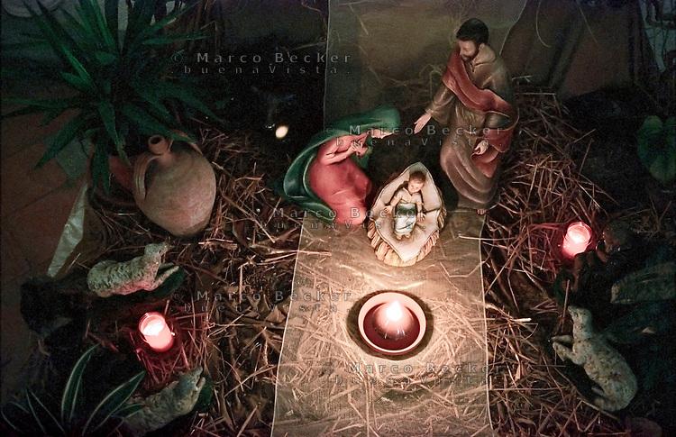 Milano, presepe all'interno della Chiesa di San Cristoforo sul Naviglio --- Milan, christmas crib inside the church of San Cristoforo sul Naviglio
