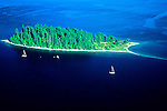 McMicken Island Marine S.P., WA    <br /> Aerial view of McMicken Island (11.5 acres) in the Case Inlet of South Puget Sound
