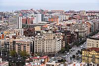 Spain, Barcelona. View from Sagrada Família.
