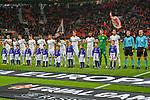 08.11.2018, BayArena, Leverkusen, Europaleque, Vorrunde, GER, UEFA EL, Bayer 04 Leverkusen (GER) vs. FC Zuerich (SUI),<br />  <br /> DFL regulations prohibit any use of photographs as image sequences and/or quasi-video<br /> <br /> im Bild / picture shows: <br /> die Zuericher Mannschaft <br /> <br /> Foto &copy; nordphoto / Meuter<br /> <br /> <br /> <br /> Foto &copy; nordphoto / Meuter