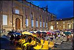Il cortile delle carrozze alla reggia di Venaria durante un concerto di Real Music 2011