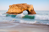 Beautiful sunset on the Natural Bridges seashore, in Santa Cruz, California