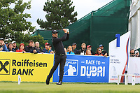 Haydn Porteous (RSA) on the 1st tee during Round 4 of the D+D Real Czech Masters at the Albatross Golf Resort, Prague, Czech Rep. 03/09/2017<br /> Picture: Golffile | Thos Caffrey<br /> <br /> <br /> All photo usage must carry mandatory copyright credit     (&copy; Golffile | Thos Caffrey)