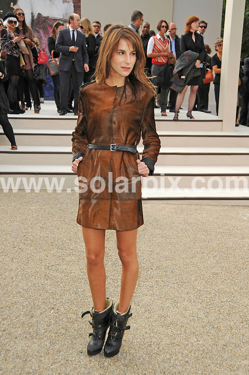 **ALL ROUND PICTURES FROM SOLARPIX.COM**                                             **WORLDWIDE SYNDICATION RIGHTS**                                                                                  Caption: The Burberry 2011 catwalk show as part of London Fashion Week at Chelsea College of Art and Design, London, UK. 21 September 2010                                                                              This pic: Caroline Sieber                                                                                  JOB REF: 12162 MSR       DATE: 21_09_2010                                                           **MUST CREDIT SOLARPIX.COM OR DOUBLE FEE WILL BE CHARGED**                                                                      **MUST AGREE FEE BEFORE ONLINE USAGE**                               **CALL US ON: +34 952 811 768 or LOW RATE FROM UK 0844 617 7637**