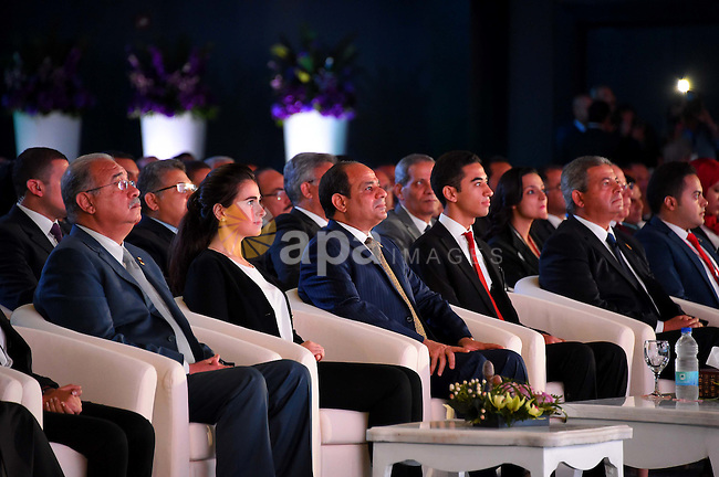 Egyptian President Abdel Fattah al-Sisi attends the the first national youth conference in the Red Sea resort of Sharm Al-Sheikh, in the South Sinai governorate, south of Cairo, Egypt, on Oct. 25, 2016. Photo by Egyptian President Office