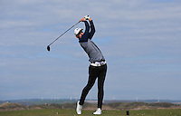 Sam Fernley during Round Two of the West of England Championship 2016, at Royal North Devon Golf Club, Westward Ho!, Devon  23/04/2016. Picture: Golffile | David Lloyd<br /> <br /> All photos usage must carry mandatory copyright credit (&copy; Golffile | David Lloyd)