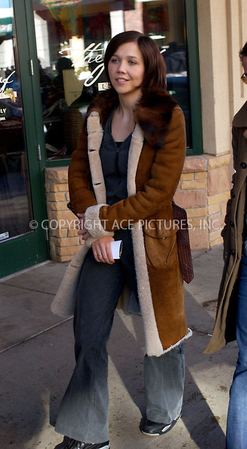 "WWW.ACEPIXS.COM . . . . .  ....PARK CITY, UTAH, JANUARY 21, 2005....Maggie Gyllenhaal walks down Main St. to get her picture taken with other cast members of the movie ""Happy Endings"" at the Getty Images and Entertainment Weekly Magazine Studios at the Sundance Film Festival. ....Please byline: Ian Wingfield - ACE PICTURES..... *** ***..Ace Pictures, Inc:  ..Alecsey Boldeskul (646) 267-6913 ..Philip Vaughan (646) 769-0430..e-mail: info@acepixs.com..web: http://www.acepixs.com"
