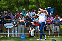 Andrew Putnam (USA) watches his tee shot on 3 during round 4 of the 2019 Charles Schwab Challenge, Colonial Country Club, Ft. Worth, Texas,  USA. 5/26/2019.<br /> Picture: Golffile | Ken Murray<br /> <br /> All photo usage must carry mandatory copyright credit (© Golffile | Ken Murray)