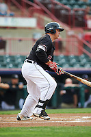 Erie SeaWolves designated hitter Dean Green (55) during a game against the Bowie Baysox on May 12, 2016 at Jerry Uht Park in Erie, Pennsylvania.  Bowie defeated Erie 6-5.  (Mike Janes/Four Seam Images)