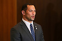Koji Murofushi, March 26, 2014 : a conference held by directors of Tokyo Organizing Committee of the Olympic and Paralympic Games <br /> in Tokyo, Japan. (Photo by Yohei Osada/AFLO SPORT)