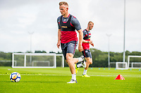 Wednesday 26 July 2017<br /> Pictured: Stephen Kingsley of Swansea City in action during training <br /> Re: Swansea City FC Training session takes place at the Fairwood Training Ground, Swansea, Wales, UK