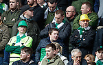 Celtic fans with hard hats