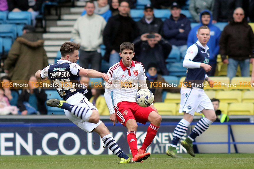Ben Thompson of Millwall takes a shot at the Sheffield United goal during Millwall vs Sheffield United, Sky Bet League 1 Football at The Den on 19th March 2016