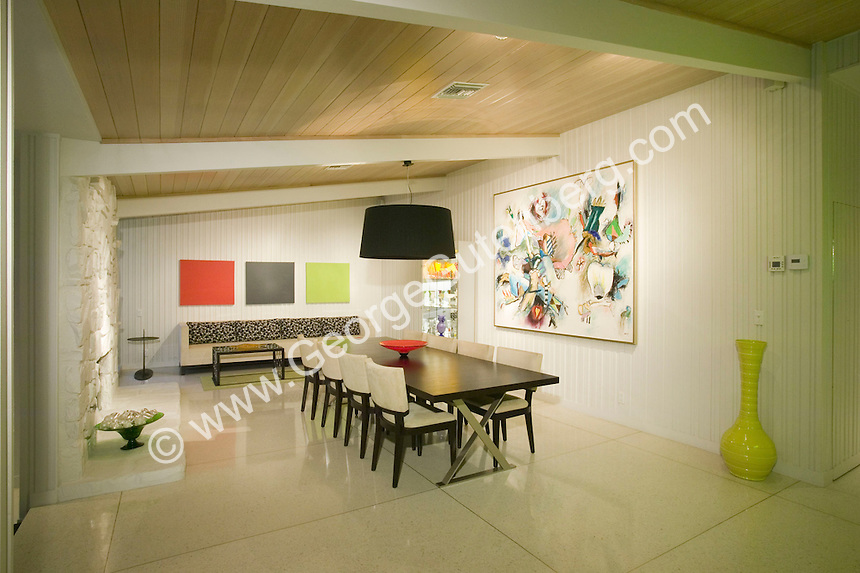 Stock photo of mid-century modern dining room