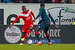 30.11.2018, Merkur Spielarena, Duesseldorf , GER, 1. FBL,  Fortuna Duesseldorf vs. 1.FSV Mainz 05,<br />  <br /> DFL regulations prohibit any use of photographs as image sequences and/or quasi-video<br /> <br /> im Bild / picture shows: <br /> Dodi Lukebakio (Fortuna Duesseldorf #20),  im Zweikampf gegen  Moussa Niakhaté (Mainz 05 #19), <br /> Foto © nordphoto / Meuter