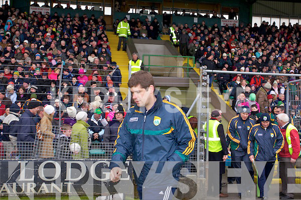 Kerry Manager Eamon Fitzmaurice Kerry v Cork in the National Football League at Austin Stack park, Tralee on Sunday.