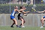 Los Angeles, CA 04/18/10 - Maggie Aker (UCSB # 9) and Kayla Ushman (SCU #15)