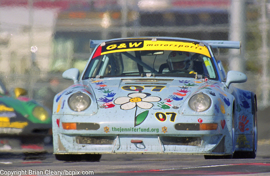 The #07 Porsche 911Carerra RSR of Mike Fitzgerald,  Gregory Merril, Steve Marshall, Chris MacAllister and Danny Marshall races to a 12th place finish in the Rolex 24 at Daytona at Daytona Internatonal Speedway, Daytona Beach, FL, January 30-31, 1982.  (Photo by Brian Cleary/www.bcpix.com)