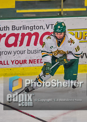 1 February 2015: University of Vermont Catamount Forward Cassidy Campeau, a Sophomore from Nepean, Ontario, in third period action against the visiting Providence College Friars at Gutterson Fieldhouse in Burlington, Vermont. The Lady Cats defeated the Friars 7-3 in Hockey East play. Mandatory Credit: Ed Wolfstein Photo *** RAW (NEF) Image File Available ***