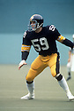 Pittsburgh Steelers Jack Ham(59) in action during a game from the 1976 season. Jack Ham played for 12 years, all with the Pittsburgh Steelers was inducted to the Pro Football Hall of Fame in 1988. David Durochik/SportPics