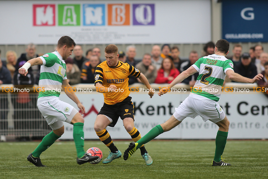 Alex Osborn of Maidstone United in possession during Maidstone United  vs Yeovil Town, Emirates FA Cup Football at the Gallagher Stadium, Maidstone, England on 08/11/2015