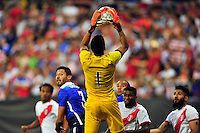 Peru keeper Pedro Gallese corrals the corner kick. USA defeated Peru 2-1 during a Friendly Match at the RFK Stadium in Washington, D.C. on Friday, September 4, 2015.  Alan P. Santos/DC Sports Box