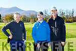 Joe Scally, Oliver Butler and Ivo O'Sullivan at the Ross Golf club open day on Sunday