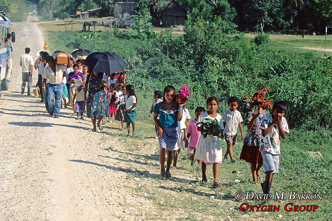 Children Leading Funeral Procession Of Child