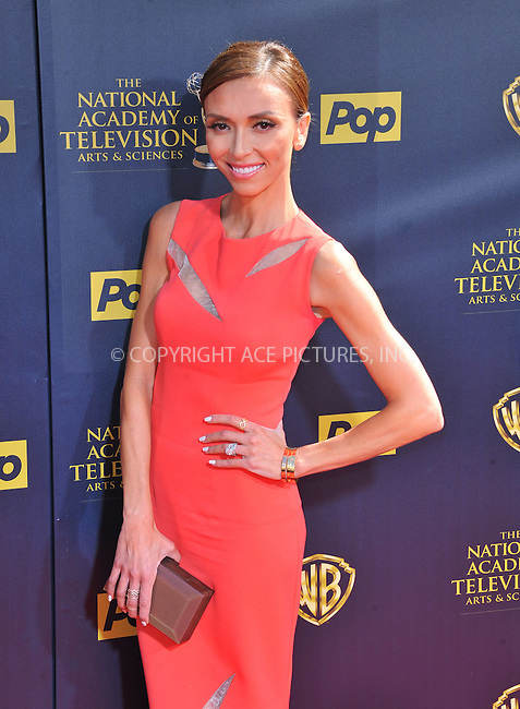 WWW.ACEPIXS.COM<br /> <br /> April 26 2015, LA<br /> <br /> TV personality Giuliana Rancic arriving at The 42nd Annual Daytime Emmy Awards at Warner Bros. Studios on April 26, 2015 in Burbank, California.<br /> <br /> By Line: Peter West/ACE Pictures<br /> <br /> <br /> ACE Pictures, Inc.<br /> tel: 646 769 0430<br /> Email: info@acepixs.com<br /> www.acepixs.com