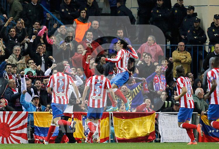 Madrid 11/04/2012.- Estadio Vicente Calderon..Liga BBVA..Atletico de Madrid -  Real Madrid..Falcao celebracion...©Alex Cid-Fuentes/ALFAQUI FOTOGRAFIA.........