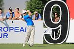 Richie Ramsay tees off on the 9th tee during Day 1 of the Dubai World Championship, Earth Course, Jumeirah Golf Estates, Dubai, 25th November 2010..(Picture Eoin Clarke/www.golffile.ie)