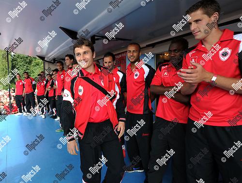 2011-08-07 / Voetbal / seizoen 2011-2012 / Fandag R. Antwerp FC / Kersverse aanwinst Antun Dunkovic werd voorgesteld..Foto: mpics
