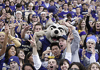 Oct 24, 2009:  Washington mascot Harry pumped the fans up in the stands during the game against Oregon. Oregon defeated Washington 43-19 at Husky Stadium in Seattle, Washington..