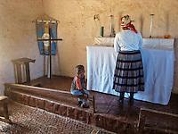 Preparing for the church service, Pienarsig, Nieu Bethesda, Great Karoo, SA 2009