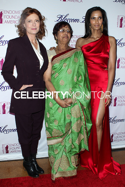 NEW YORK CITY, NY, USA - MARCH 07: Susan Sarandon, Vijaya Lakshmi, Padma Lakshmi at the 6th Annual Blossom Ball Benefiting Endometriosis Foundation Of America held at 583 Park Avenue on March 7, 2014 in New York City, New York, United States. (Photo by Jeffery Duran/Celebrity Monitor)