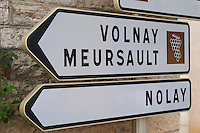 Volnay, Meursault, Nolay. The village. Pommard, Cote de Beaune, d'Or, Burgundy, France