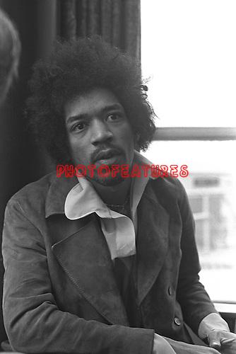 Jimi Hendrix 1969 at BBC Bar for Lulu TV Show