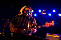 The American alternative rock band Yo La Tengo (pictured here James McNew) performs at Brooklyn Bowl on the first night of the CMJ Music Marathon and Film Festival on 19 October 2010 in Williamsburg, Brooklyn, New York.