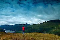 Loch Long, Ben Arthur (The Cobbler) and The Brack the Arrochar Alps, from Cruach Tairbeirt, Loch Lomond and the Trossachs National Park, Argyll & Bute