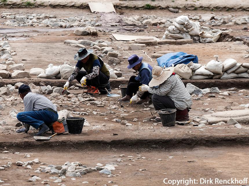 Arch&auml;ologische Ausgrabung in Gyeongju, Provinz Gyeongsangbuk-do, S&uuml;dkorea, Asien, UNESCO-Weltkulturerbe<br /> archelogical excavation, Gyeongju,  province Gyeongsangbuk-do, South Korea, Asia, UNESCO world-heritage