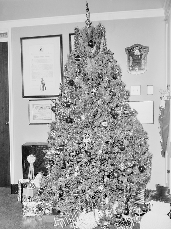 Decorated Christmas tree in Congressman's office during Christmas contest. (Photo by CQ Roll Call via Getty Images)