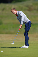 Ross Dutton (Tandragee) on the 1st green during Round 2 of the East of Ireland Amateur Open Championship 2018 at Co. Louth Golf Club, Baltray, Co. Louth on Sunday 3rd June 2018.<br /> Picture:  Thos Caffrey / Golffile<br /> <br /> All photo usage must carry mandatory copyright credit (&copy; Golffile | Thos Caffrey)