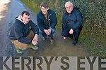 Residents of the Mountcoal Road which is used by up to 100 cars  are calling on the council to fix the road as soon as possible as its condition is extremely dangerous. .L-R Maurice Galvin, David Trant and Tony Fitzmaurice