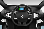 Steering wheel view of a 2012 - 2014 Renault Twizy Technic 80 Micro Car.
