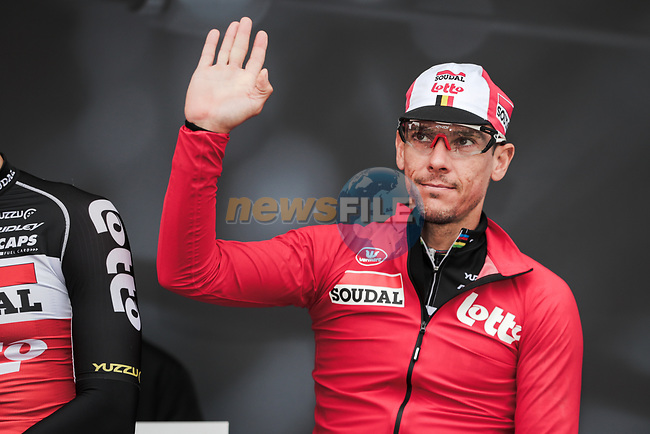 Philippe Gilbert (BEL) Lotto-Soudal at sign on before Stage 3 of the 78th edition of Paris-Nice 2020, running 212.5km from Chalette-sur-Loing to La Chatre, France. 10th March 2020.<br /> Picture: ASO/Fabien Boukla | Cyclefile<br /> All photos usage must carry mandatory copyright credit (© Cyclefile | ASO/Fabien Boukla)