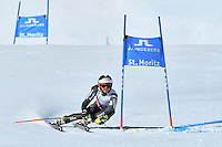 February 16, 2017: Coralie FRASSE SOMBET (FRA) competing in the women's giant slalom event at the FIS Alpine World Ski Championships at St Moritz, Switzerland. Photo Sydney Low