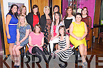 Claire McCarthy, Castlemaine, pictured with Maureen Cahillane, Colleen Hayes, Triona Evans, Georgina O'Sullivan, Elaine Griffin, Marie Moriarty, Mary O'Sullivan, Elaine Foley, Grainne Murphy, Melissa Tangney and Mags Evans as she celebrated her engagement in the Ross Hotel, Killarney on Friday night...................