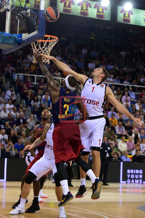 Turkish Airlines Euroleague 2016/2017.<br /> Regular Season - Round 4.<br /> FC Barcelona Lassa vs Brose Bamberg: 78-74.<br /> Tyrese Rice vs Fabien Causeur.